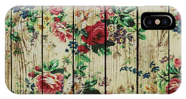 Flowers On Wood 01 IPhone Case