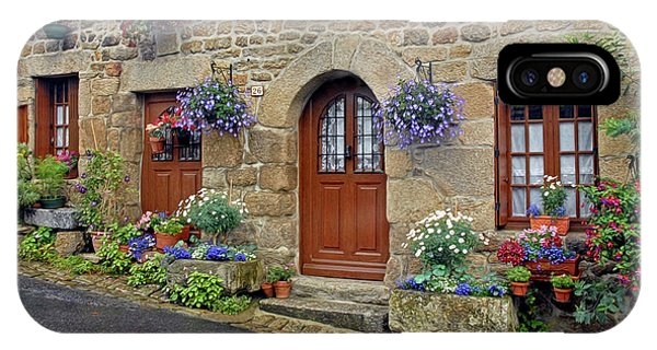 Flowery Doorways In Brittany IPhone Case