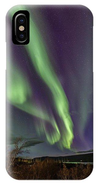 Flowing Aurora IPhone Case