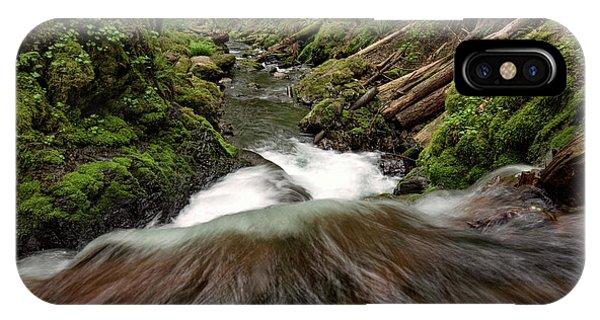 Flowing Downstream Waterfall Art By Kaylyn Franks IPhone Case