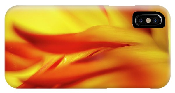 Flowing Floral Fire IPhone Case