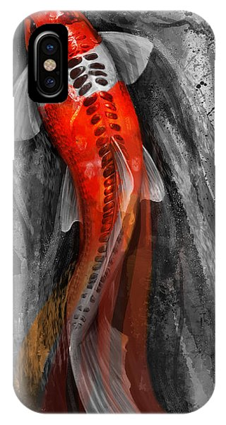 Koi iPhone Case - Flowing Koi by Steve Goad