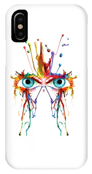 Fluid Abstract Eyes IPhone Case