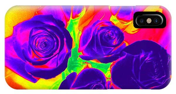 Fluorescent Roses IPhone Case
