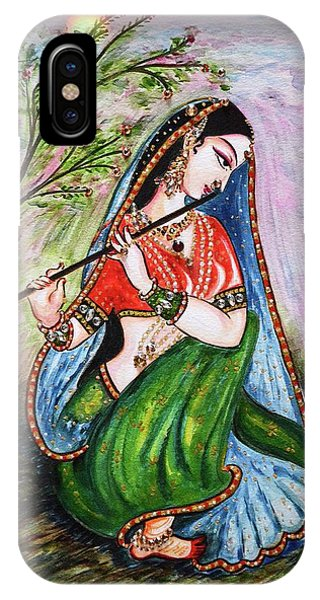 Flute Playing In - Krishna Devotion  IPhone Case