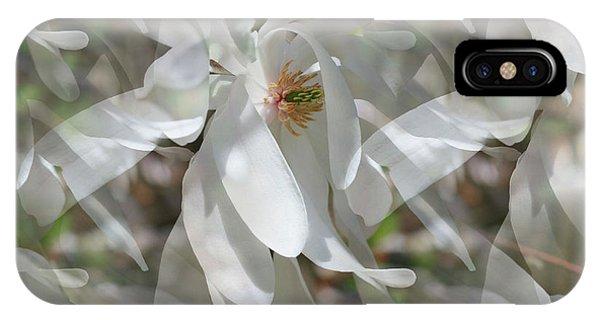 Fluttering Magnolia Petals IPhone Case