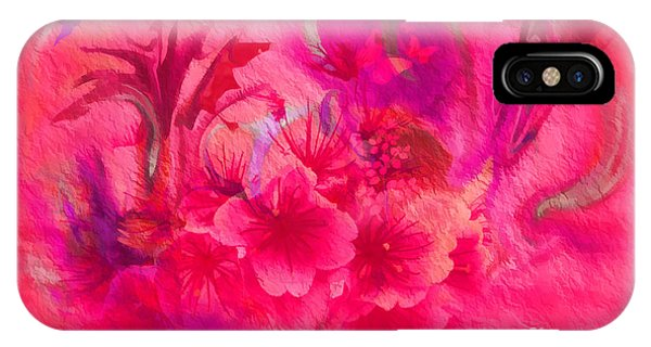 Flower Art Pinky Pink  IPhone Case