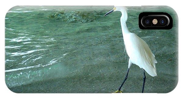 Egret Under Bridge IPhone Case