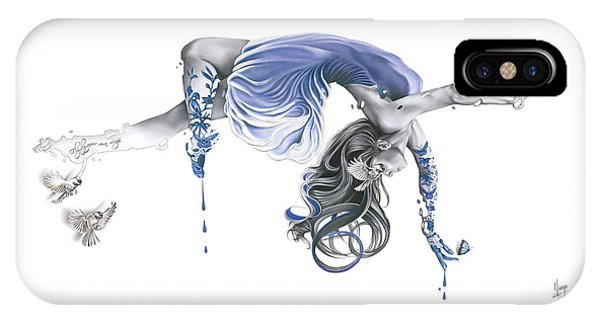 Hyper Realism iPhone Case - Fly By Your Own Wings by Karina Llergo