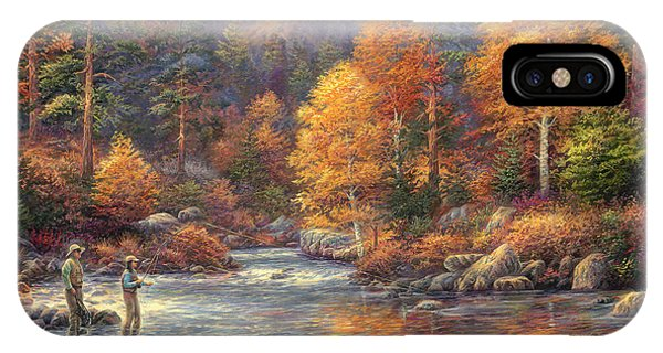 River iPhone Case - Fly Fishing Legacy by Chuck Pinson