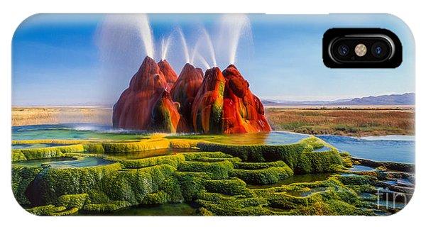Alga iPhone X Case - Fly Geyser Panorama by Inge Johnsson