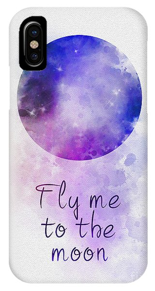Moon iPhone Case - Fly Me To The Moon by My Inspiration