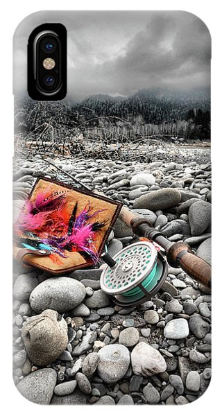 Fly Rod And Streamers Portrait IPhone Case
