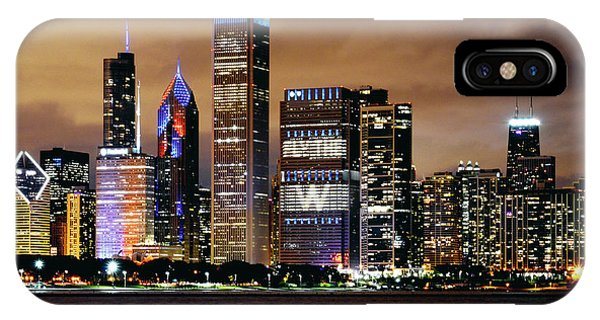 Skyline iPhone Case - Cubs World Series Chicago Skyline by Bob Horsch