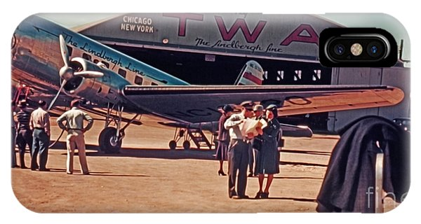 Fly Twa The Lindberg Line By Henry Bosis IPhone Case
