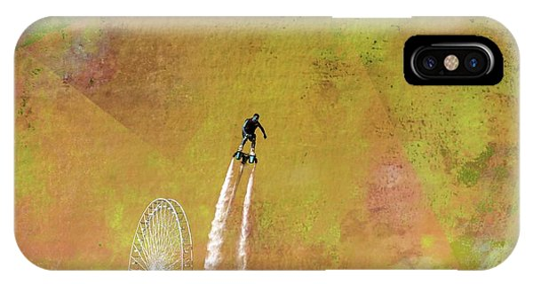 Flyboard, Sketchy And Painterly IPhone Case