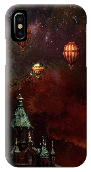 Flying Balloons Over Stockholm IPhone Case