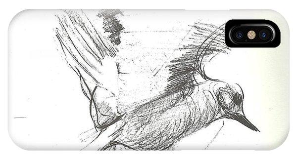 Flying Bird Sketch IPhone Case