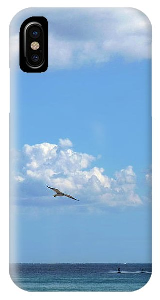 IPhone Case featuring the photograph Flying By The Sea by Francesca Mackenney