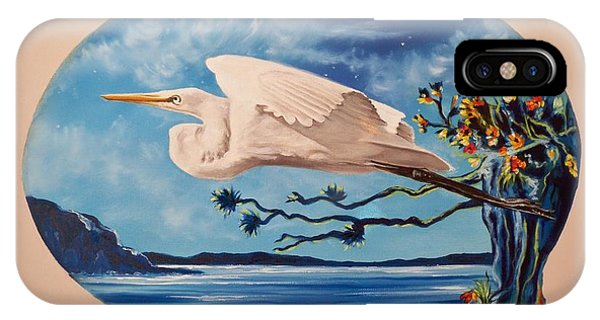 Flying Egret IPhone Case