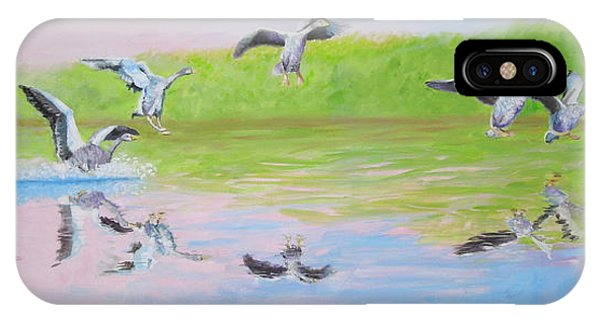 Flying Geese IPhone Case