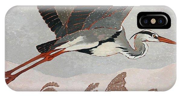 Flying Heron IPhone Case