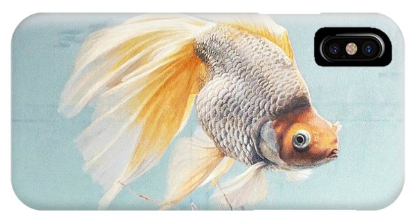 Flying In The Clouds Of Goldfish IPhone Case