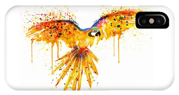 Flying Parrot Watercolor IPhone Case