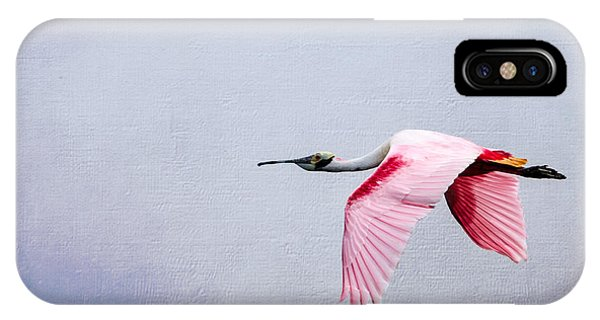 Flying Pretty - Roseate Spoonbill IPhone Case