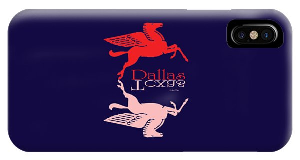 Flying Red Horse Dallas Texas Reflection T-shirt IPhone Case