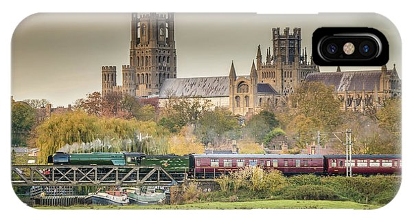 Flying Scotsman At Ely IPhone Case