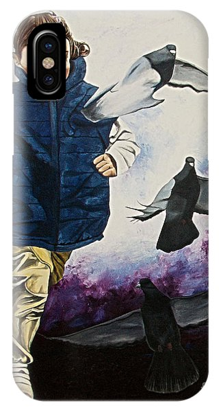 Flying With The Birds - Volar Con Las Aves IPhone Case