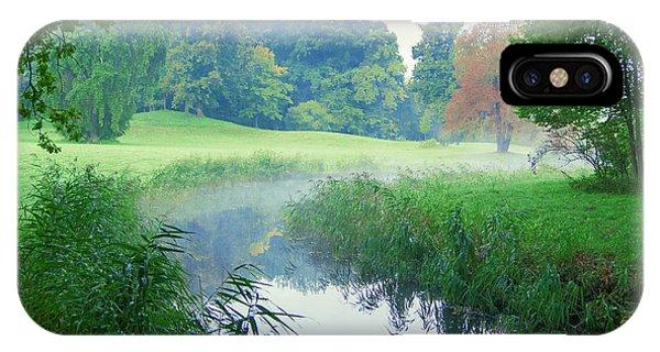 Fog Along A Creek In Autumn IPhone Case