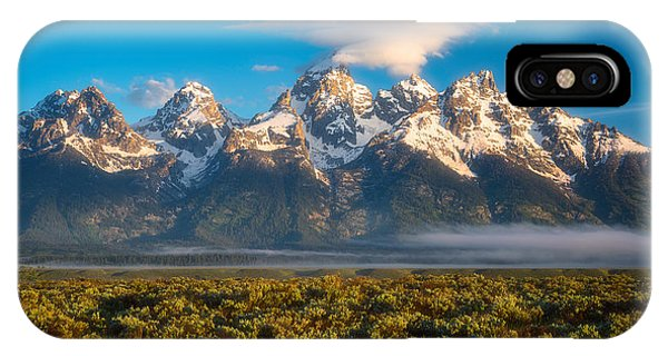 Teton iPhone Case - Fog At The Tetons by Darren White