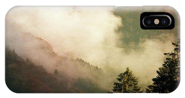 Susann Serfezi iPhone Case - Fog Competes With Sun by AugenWerk Susann Serfezi