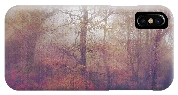 Fog In Autumn Mountain Woods IPhone Case