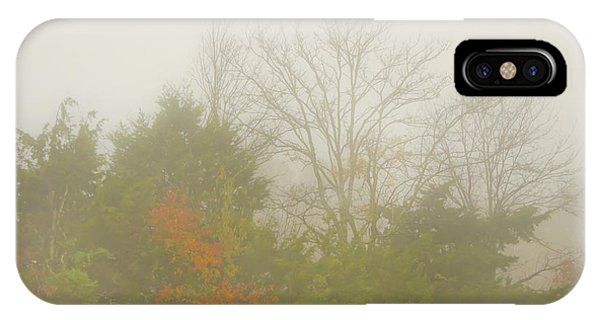 Fog In Autumn IPhone Case