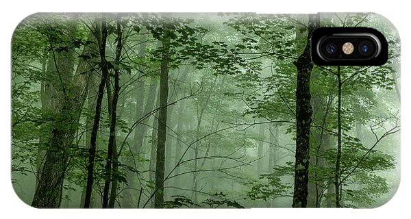 Fog In The Forest IPhone Case