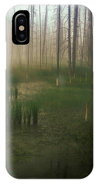 Fog In The Marsh IPhone Case