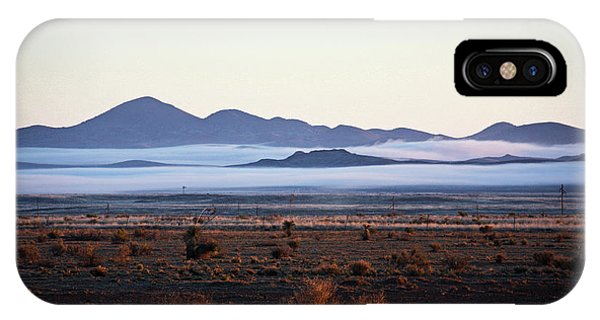 Fog In The Peloncillo Mountains IPhone Case