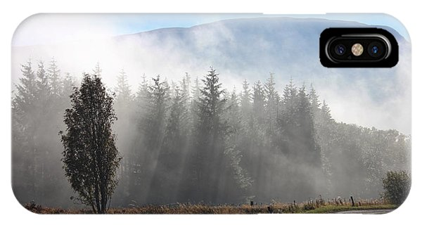 Fog On The Road To Fintry IPhone Case
