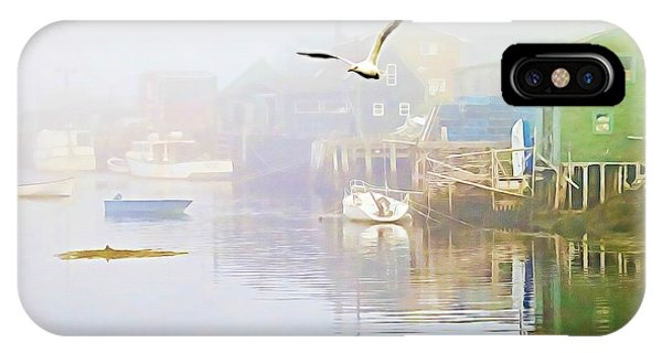 Fog Over West Dover - Digital Paint IPhone Case