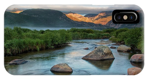 Fog Rolls In On Moraine Park And The Big Thompson River In Rocky IPhone Case