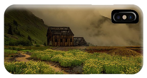 Anima iPhone Case - Fog Rolls Over The Frisco Mill With Summer Wildflowers by Bridget Calip