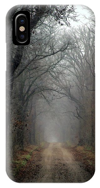 Fog Shrouded Lane  7861 Dp_2 IPhone Case