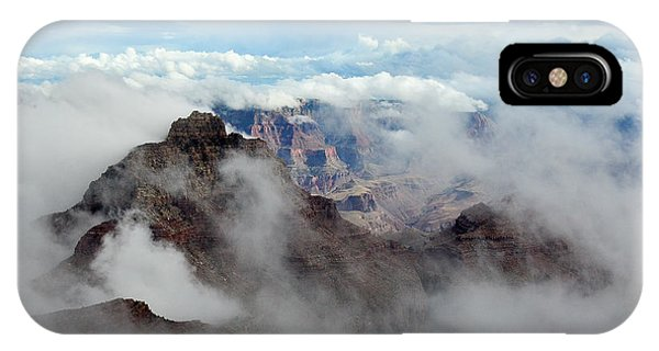 Fog Shrouded Vishnu Temple  IPhone Case