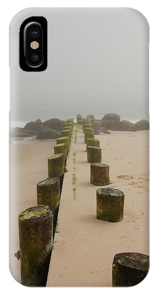 Fog Sits On Bay Head Beach - Jersey Shore IPhone Case