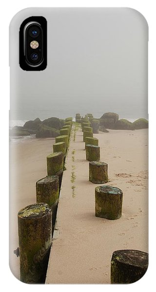 Fog Sits On Bay Head Beach - Jersey Shore IPhone Case