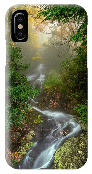 Foggy Autumn Cascades IPhone Case