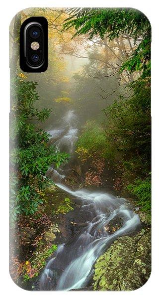 Foggy Autumn Cascades IPhone Case